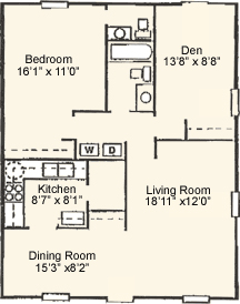 Strasburg Floorplan Willow Creek Crossing Apartments